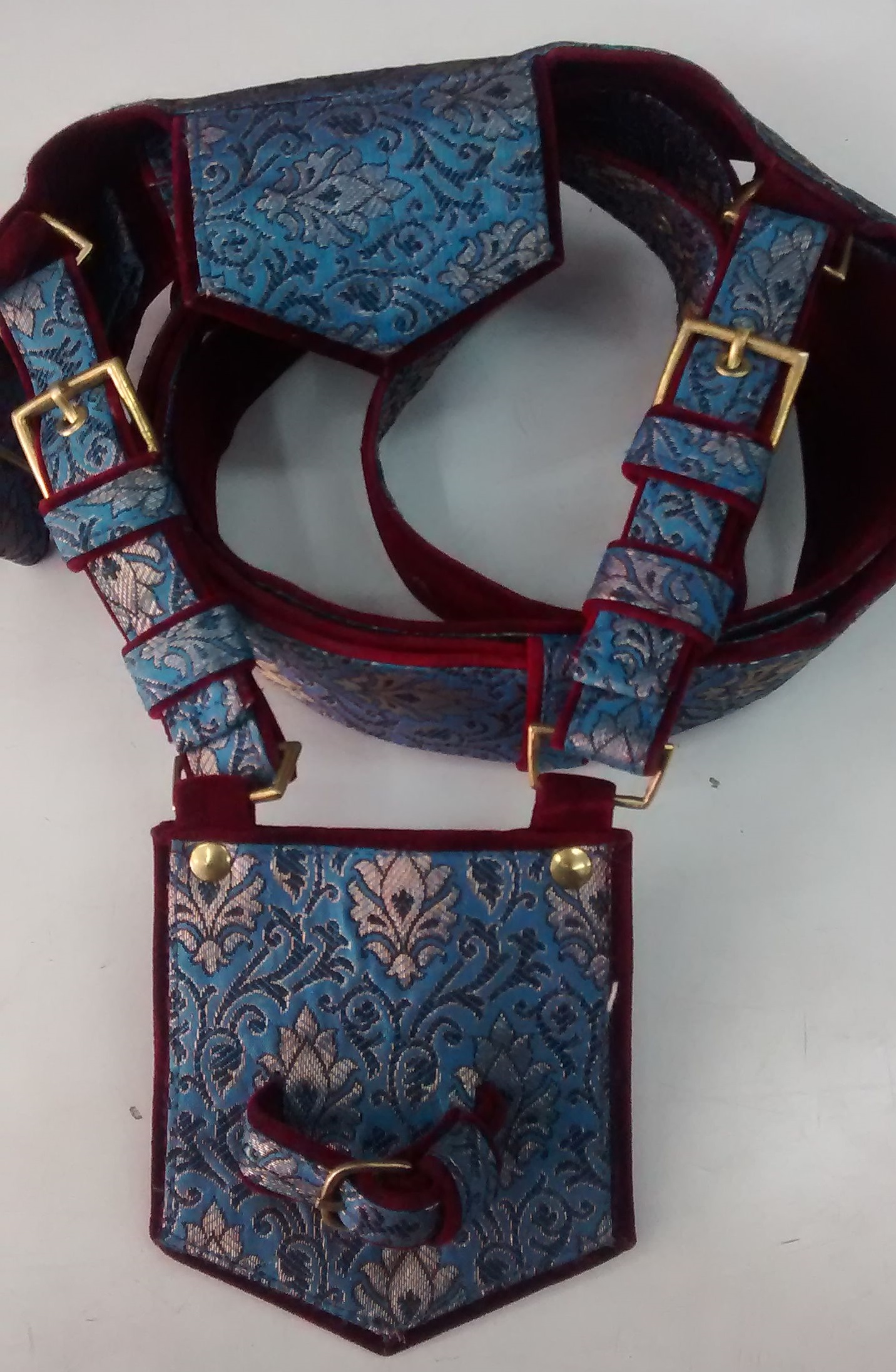 Blue Zari Groom Cross Belt (Kamarbandh)
