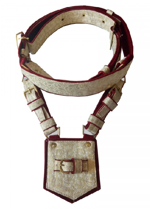Ivory Zari Groom Cross Belt (Kamarbandh)