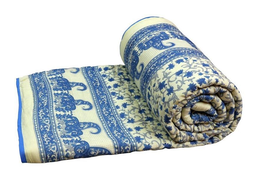 Jaipuri Print Single Cotton Bed Razai /Quilt