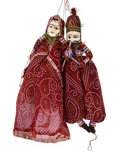 Rajasthani Puppet in Red-Mehron