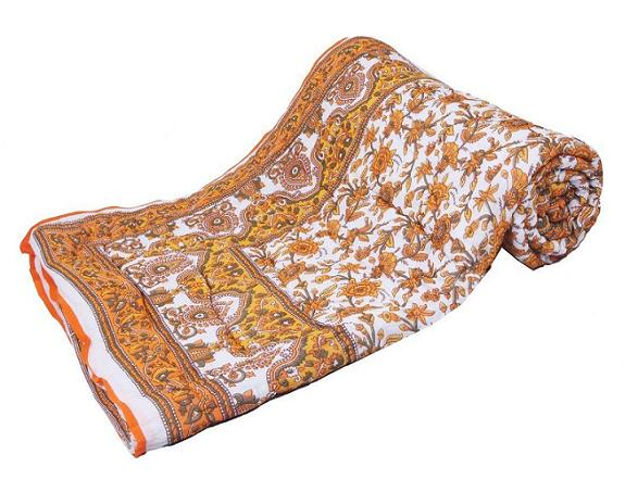Jaipuri Print Single Cotton Double Bed Razai