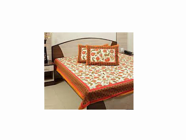 Hand Block Print Double Bed Sheet Set