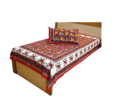 Traditional Single Bed Sheet Bed Cover Pillow