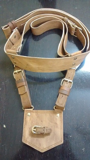 Rajputi Leather Cross Belt