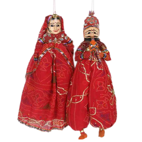 Rajasthani Puppet in Red